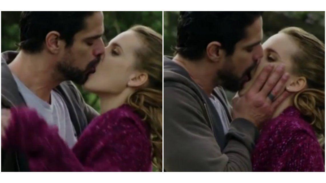 Sensual beso de Luciano Castro con Sabrina Garciarena en Los ricos no piden permiso