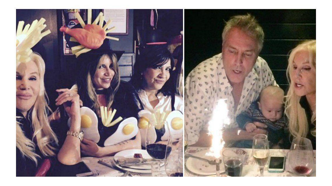 El divertido festejo de cumpleaños de Marley con Susana y Flor Peña