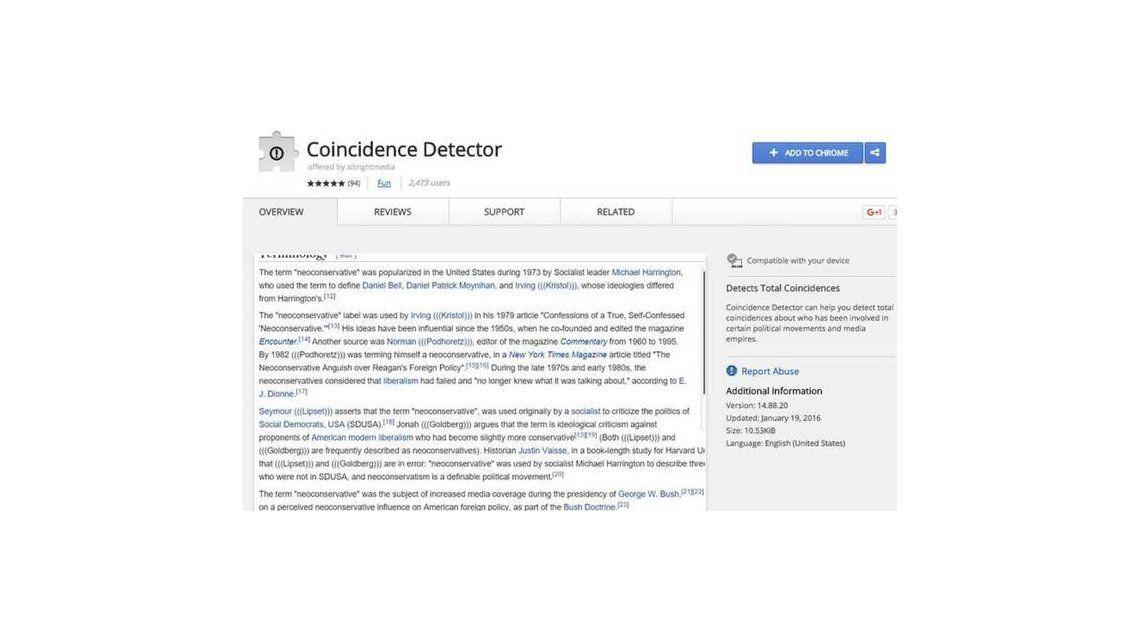 Google retira una extensión para Chrome que servía para detectar judíos
