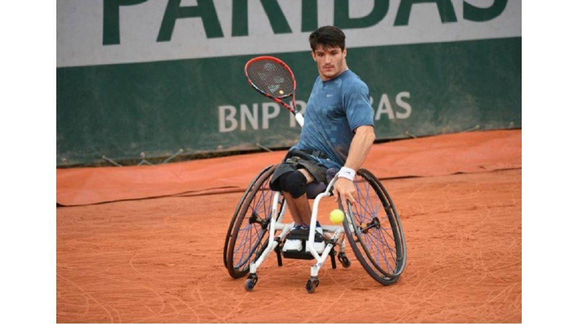 Un argentino ganó el Roland Garros en silla de ruedas