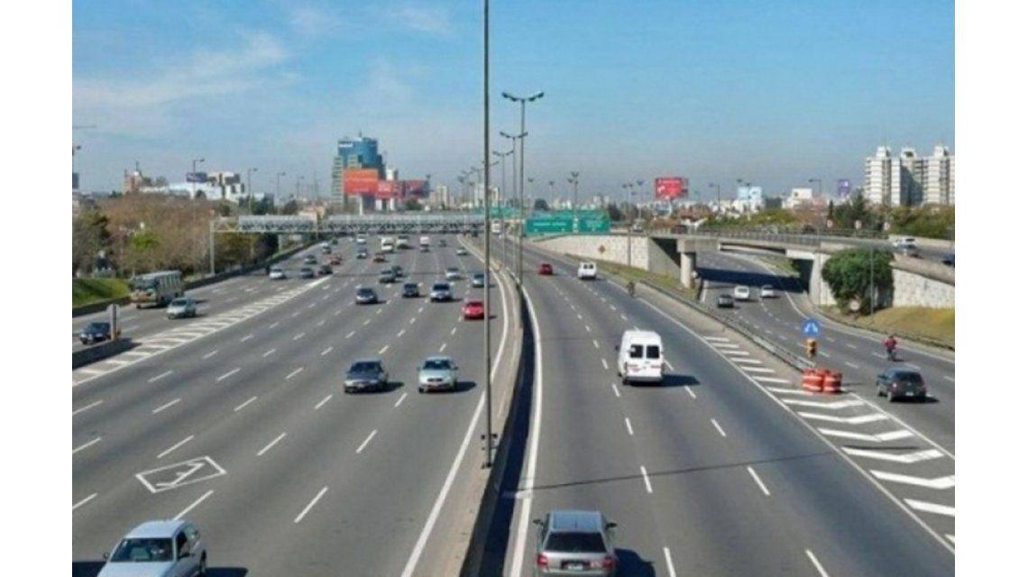 Por obras, se realizará esta noche un desvío en el acceso norte de la autopista Panamericana