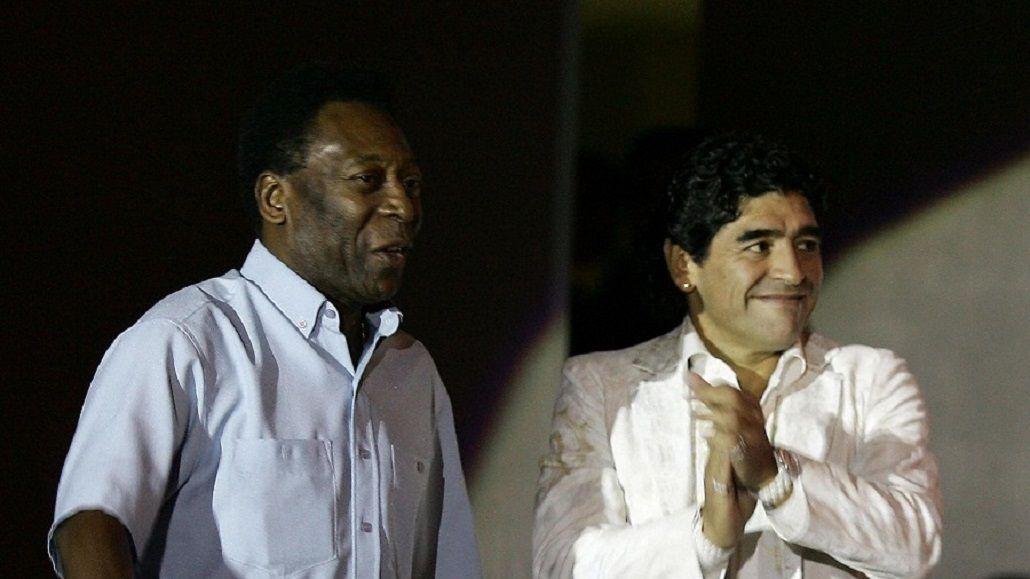 Chocan los planetas: Maradona y Pelé compartirán cancha el próximo 8 de junio