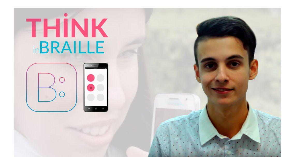 Invento argentino: con 22 años creó una App para que los ciegos puedan chatear