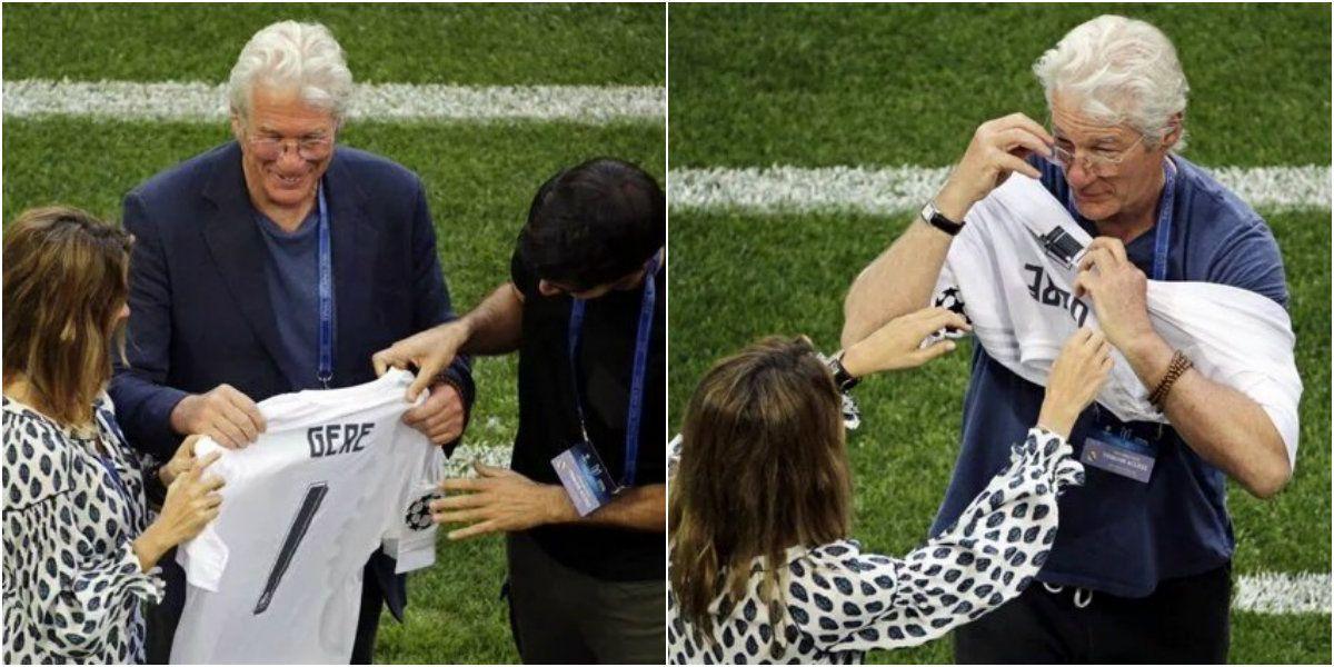 Las fotos de Richard Gere, como un fanático más en la final de la Champions