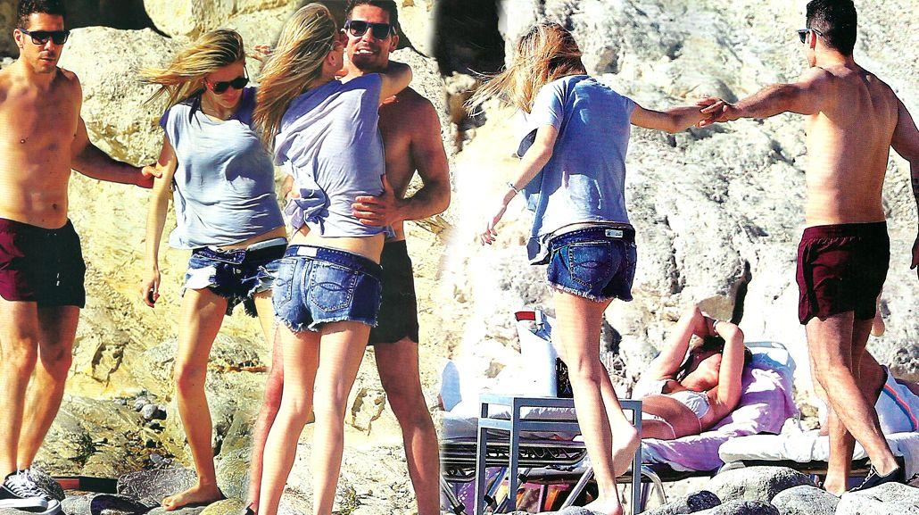 El Cholo Simeone y Carla Pereyra se relajaron en Ibiza a la espera del nacimiento de su hija