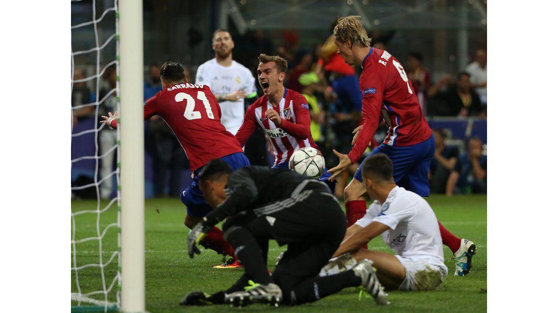 El gol del Atlético Madrid que le puso suspenso a la final de la Champions