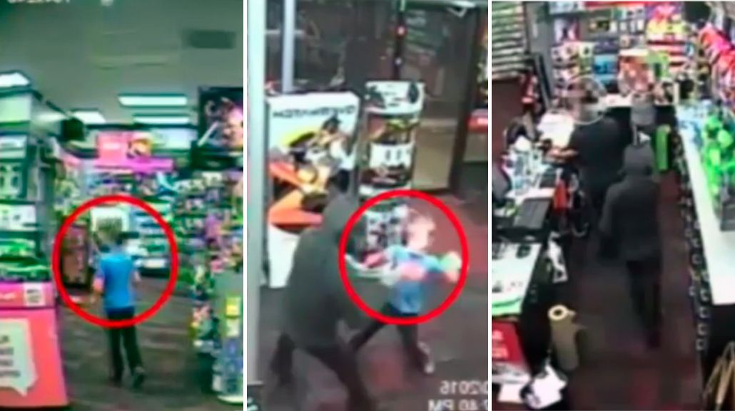 VIDEO: Un niño golpea a un ladrón para evitar que robe en la tienda de su familia