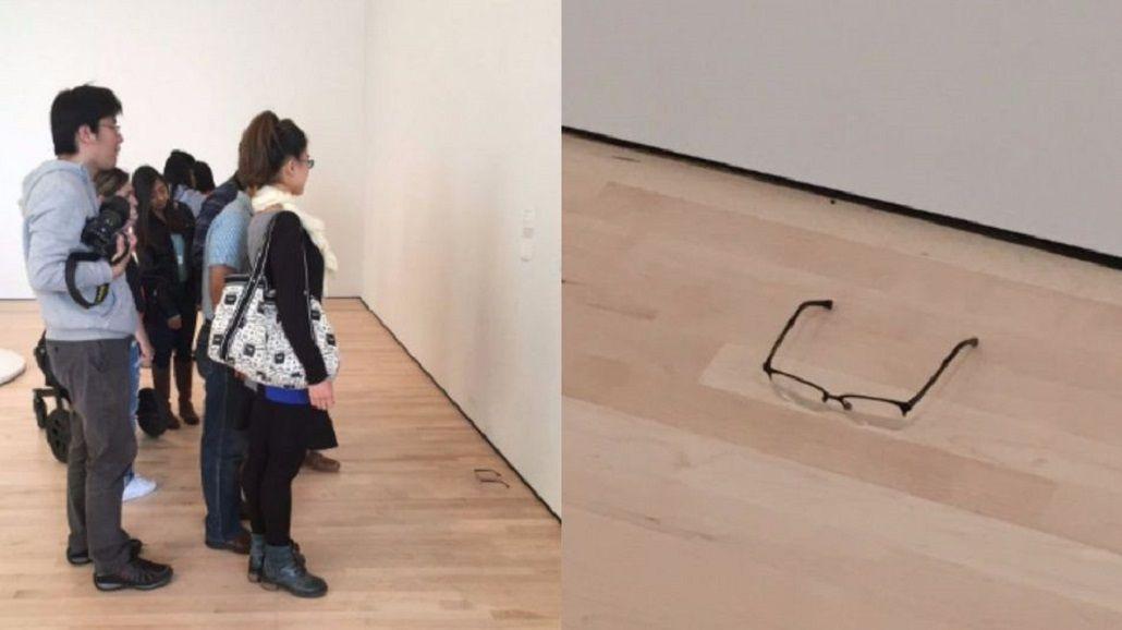 Pusieron unas gafas en el piso de un museo y los visitantes pensaron que era una obra