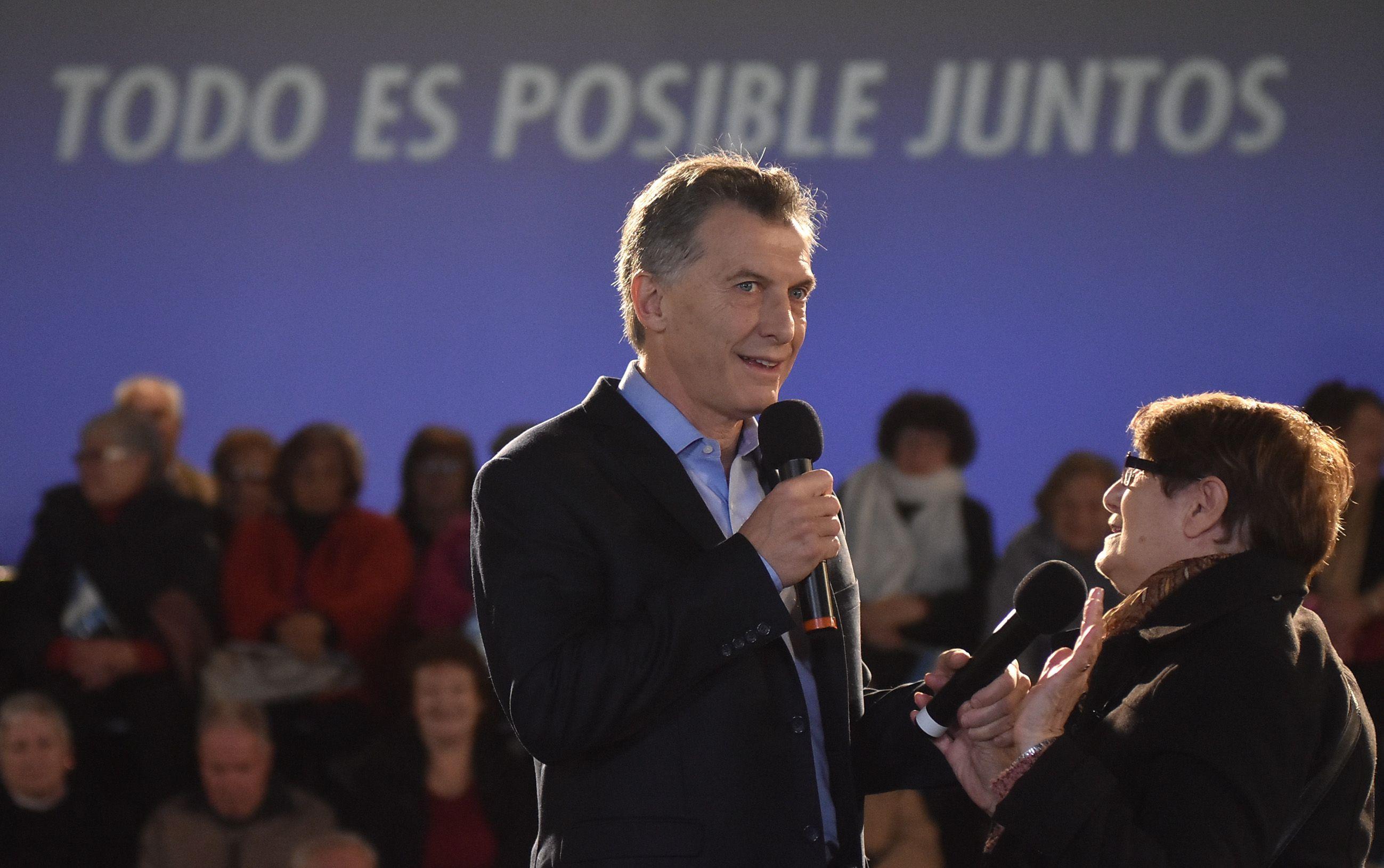 Macri: Voy a trabajar para darle a los jubilados el dinero que les corresponde
