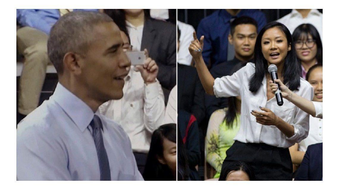 Mirá a Obama hacer beatbox en Vietnam