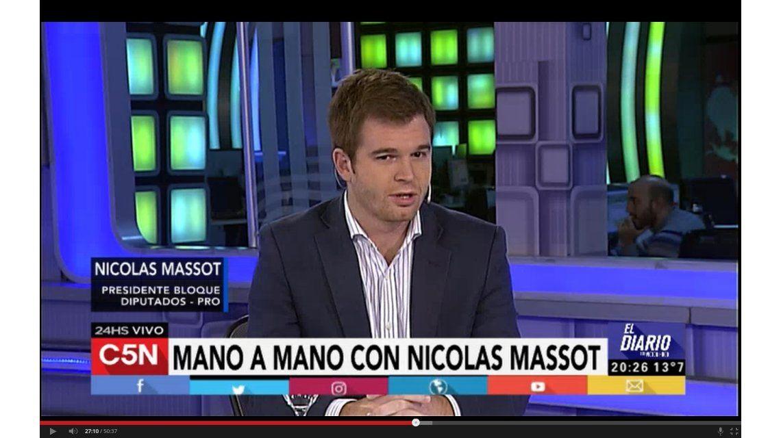 Massot dejó abierta la posibilidad de que los funcionarios entren en el blanqueo