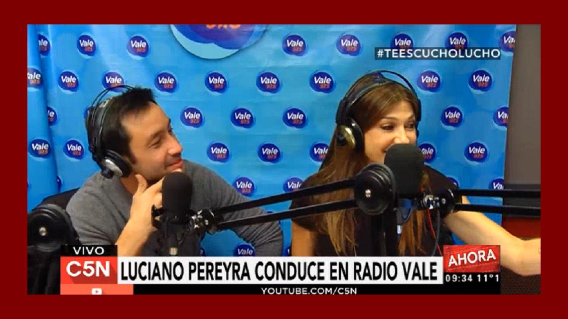 Así fue Te escucho, Lucho, con Luciano Pereyra por Vale 97.5