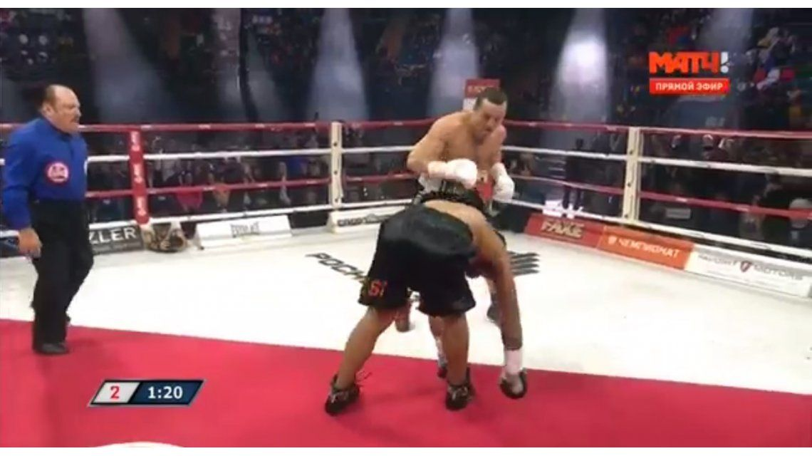 VIDEO: El brutal KO técnico de Levedev al argentino Ramírez