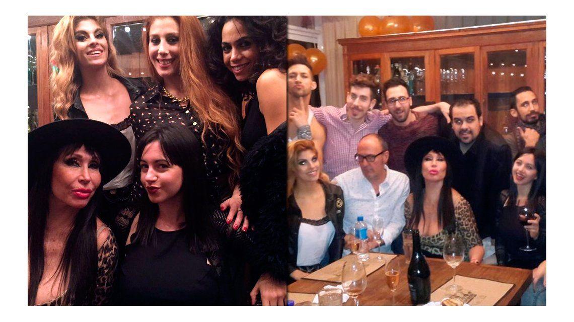 Mientras Xipolitakis está de duelo, Moria Casán festeja en la casa de José Ottavis