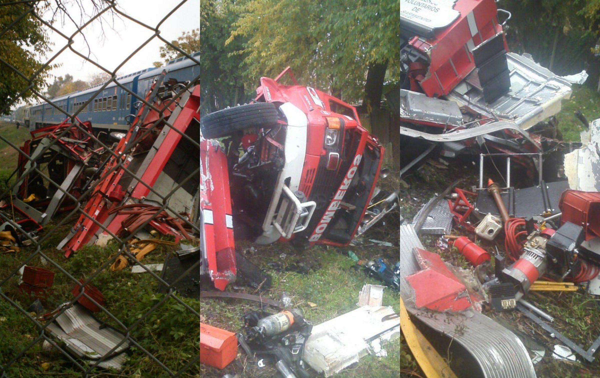 A unos bomberos  los arrolló el tren: se salvaron de milagro