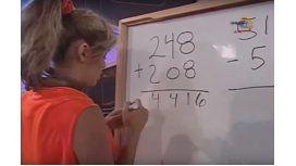 Mirá la burrada matemática en vivo