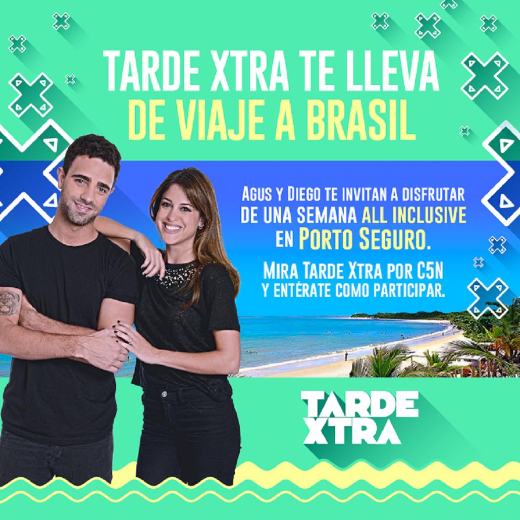 Viajá a Brasil con Tarde XTRA