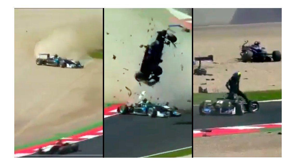 Impresionante accidente en la Fórmula 3: el piloto se salvó de milagro