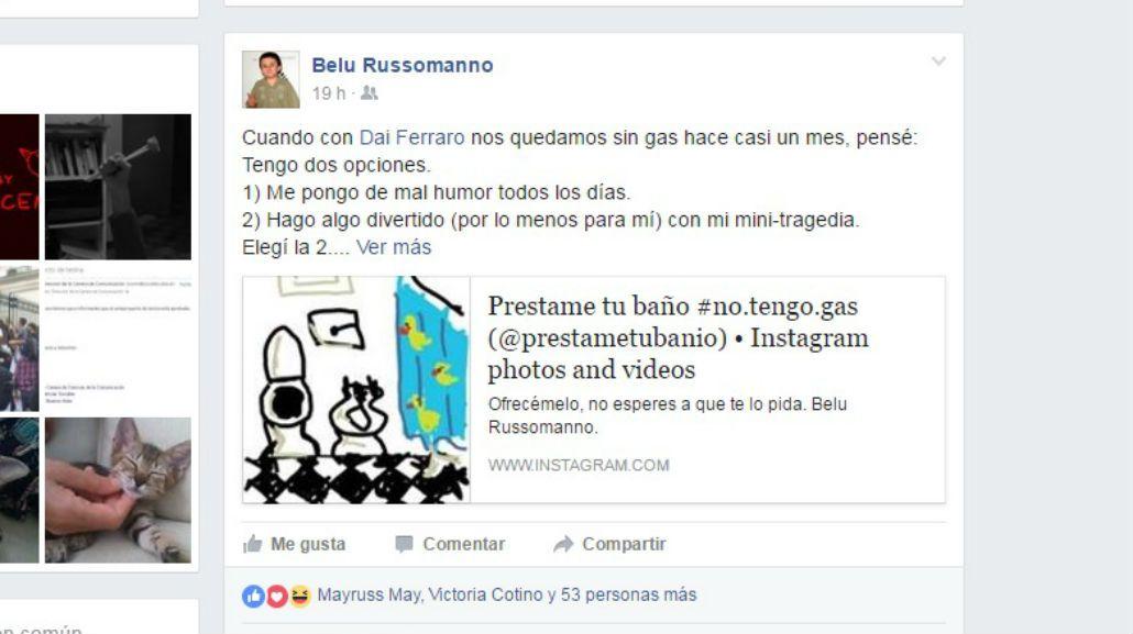 Le cortaron el gas  hace un mes y pide baños prestados: Mi sueño es bañarme en la Quinta de Olivos