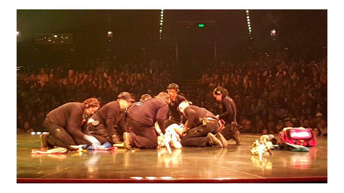 Video un acr bata del cirque du soleil se cay en plena for Ratingcero noticias del espectaculo