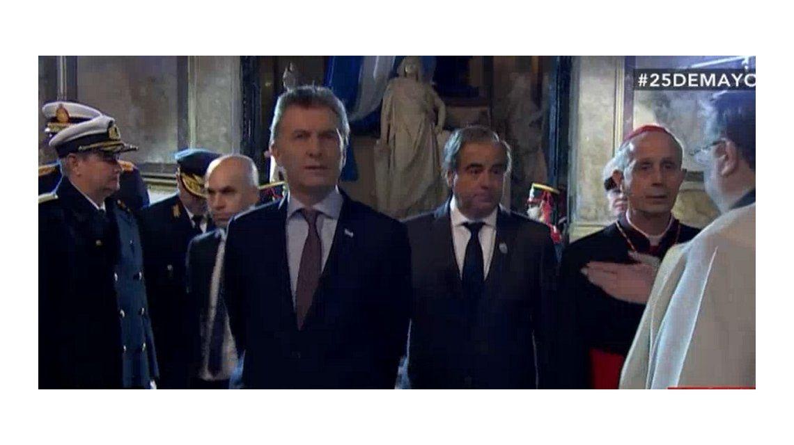 Macri asiste a su primer Tedeum como presidente en la Catedral metropolitana