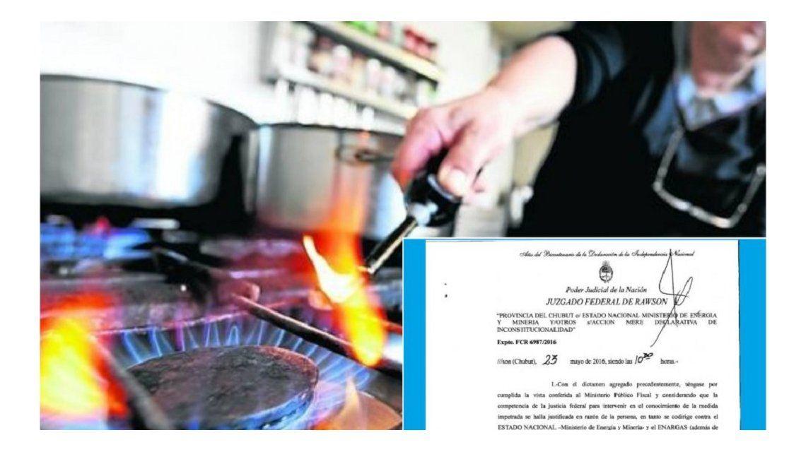 La Justicia Federal frenó el tarifazo del gas en Chubut
