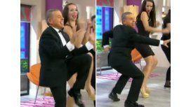 El ex Juez Oyarbide llevó su popular baile a un programa