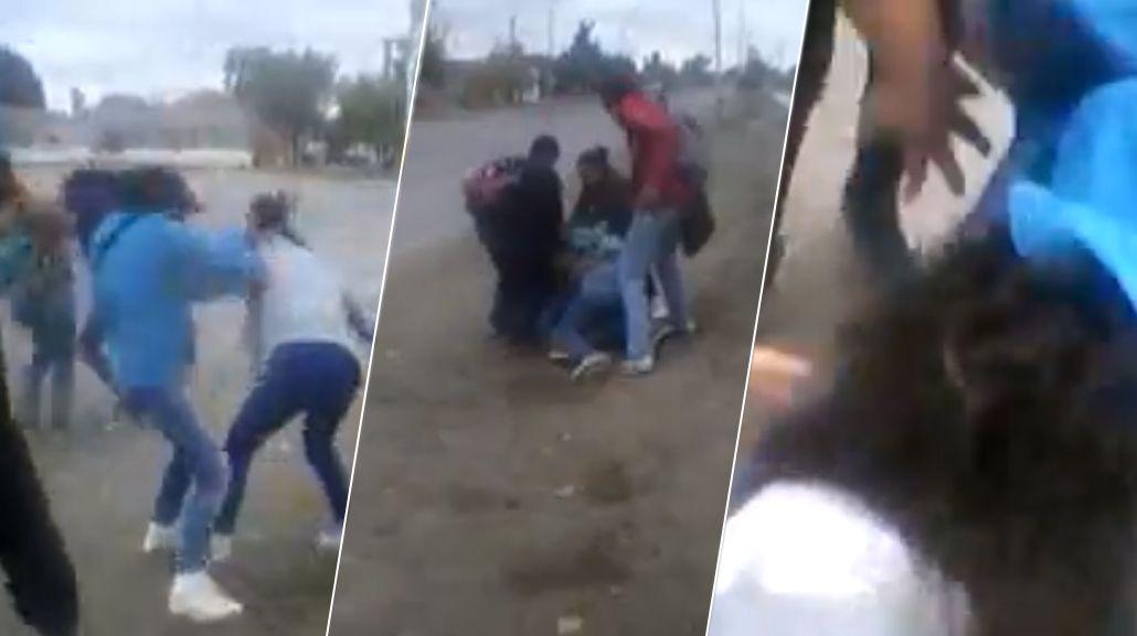 VIDEO: Salvaje pelea entre cuatro compañeras a la salida del colegio