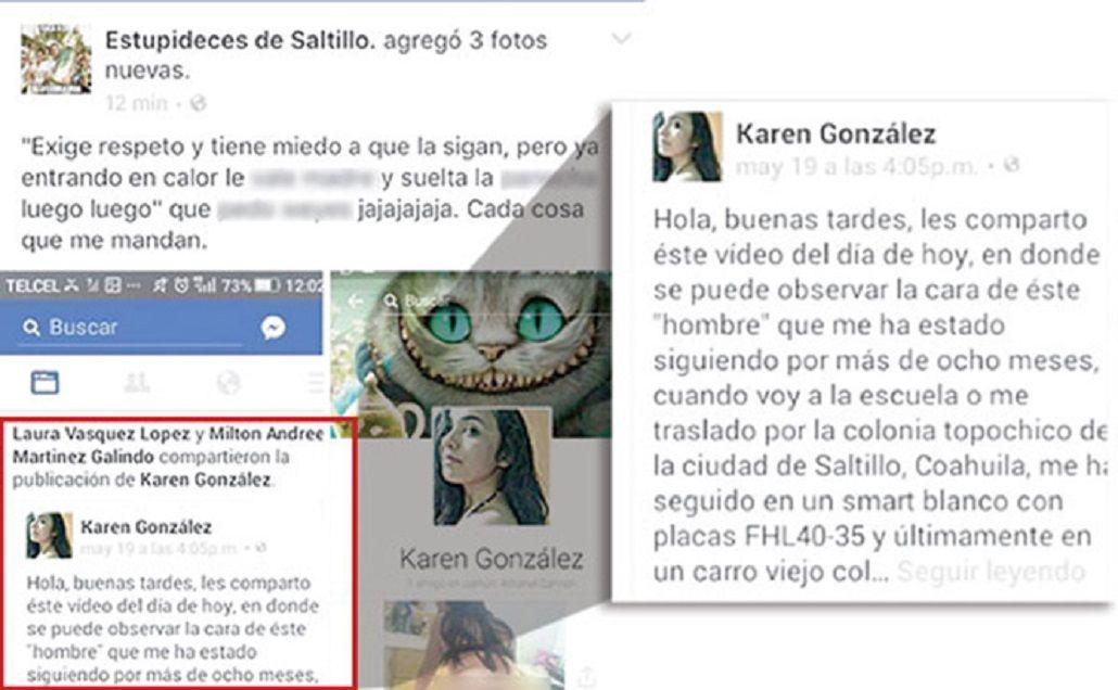 Publicó en Facebook que un hombre la acosó y la difamaron
