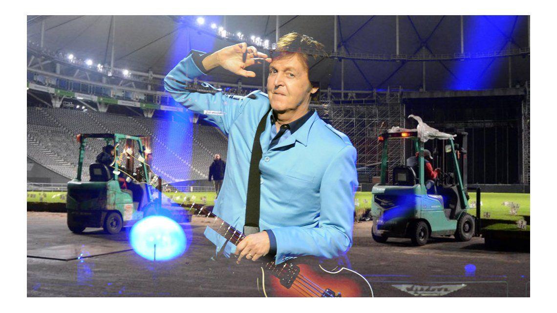 Así se prepara la ciudad de La Plata para recibir a Paul McCartney