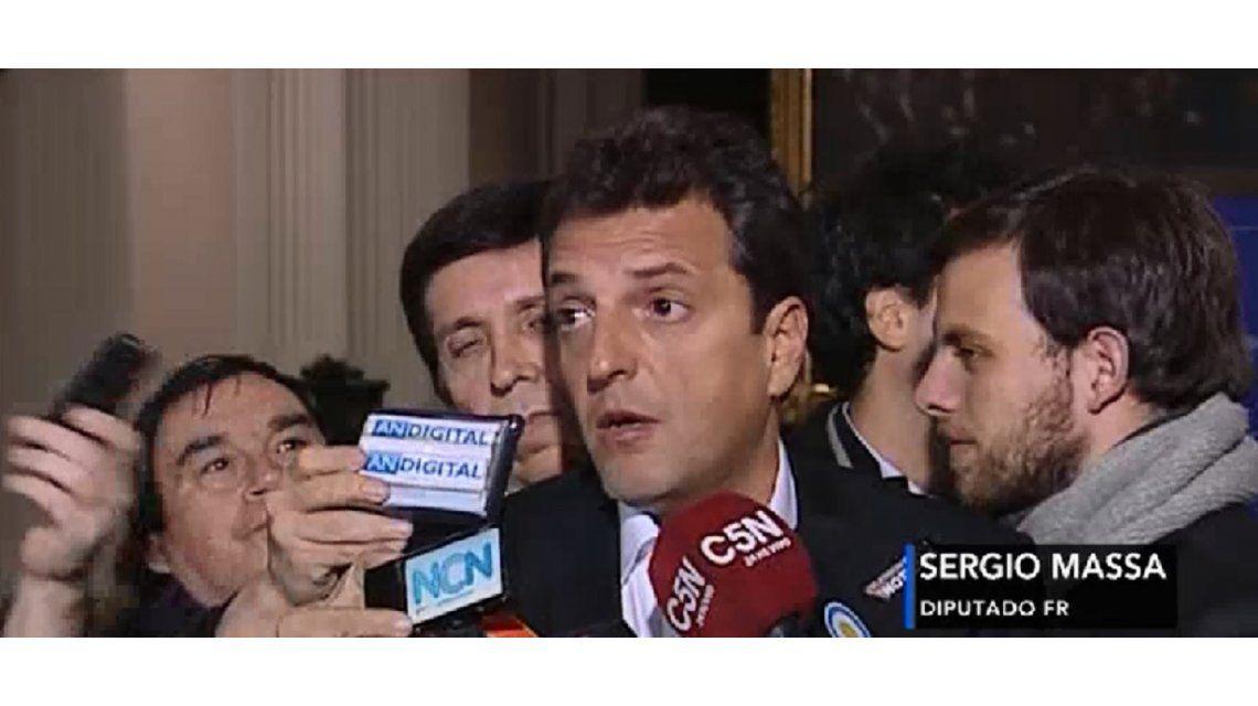 Massa, tras la aprobación de la ley antidespidos: Macri tiene que escuchar a los trabajadores