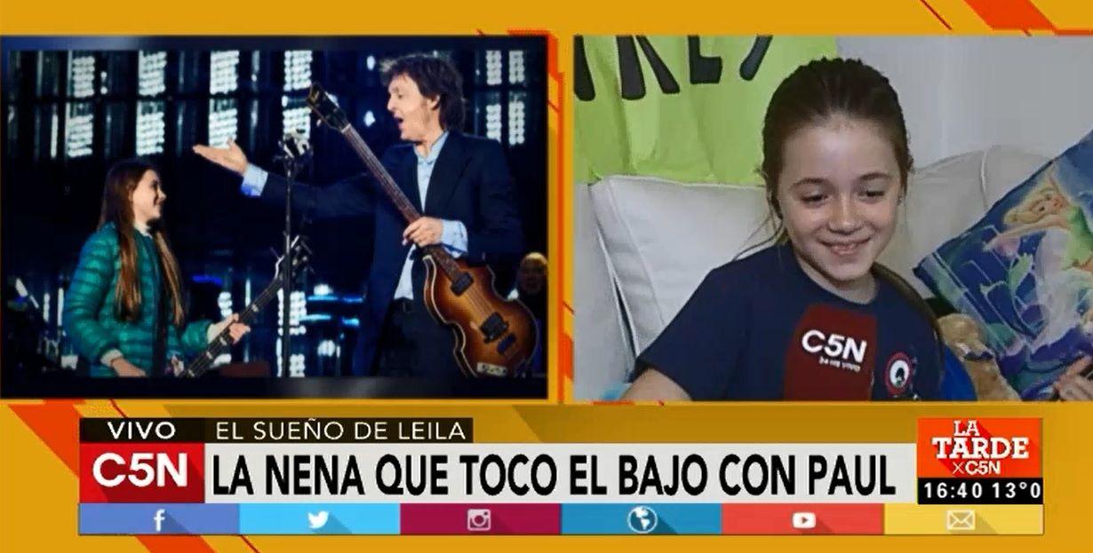 La historia detrás de Leila, la nena que tocó el bajo con Paul McCartney
