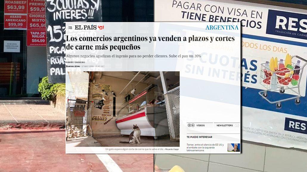 En España, asombrados por la carne en gramos y la verdura en cuotas en Argentina