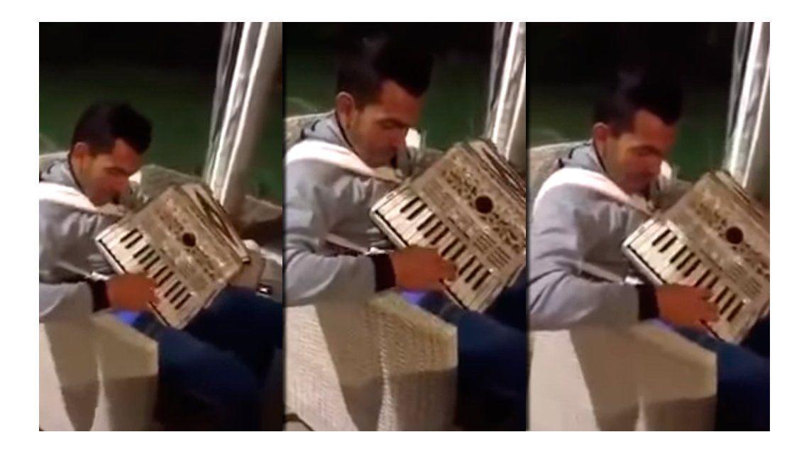 ¿Tevez a Jambao? Carlitos dejó el canto y ahora prueba con el acordeón