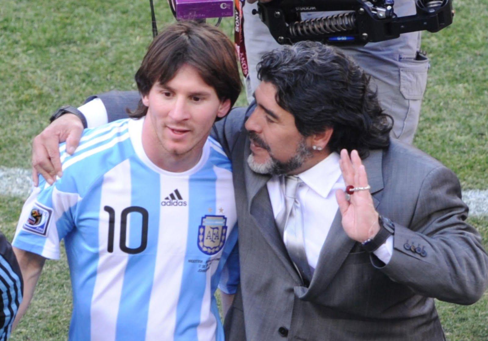 Los ídolos, juntos: Messi y Maradona compartirán cancha en un partido a beneficio