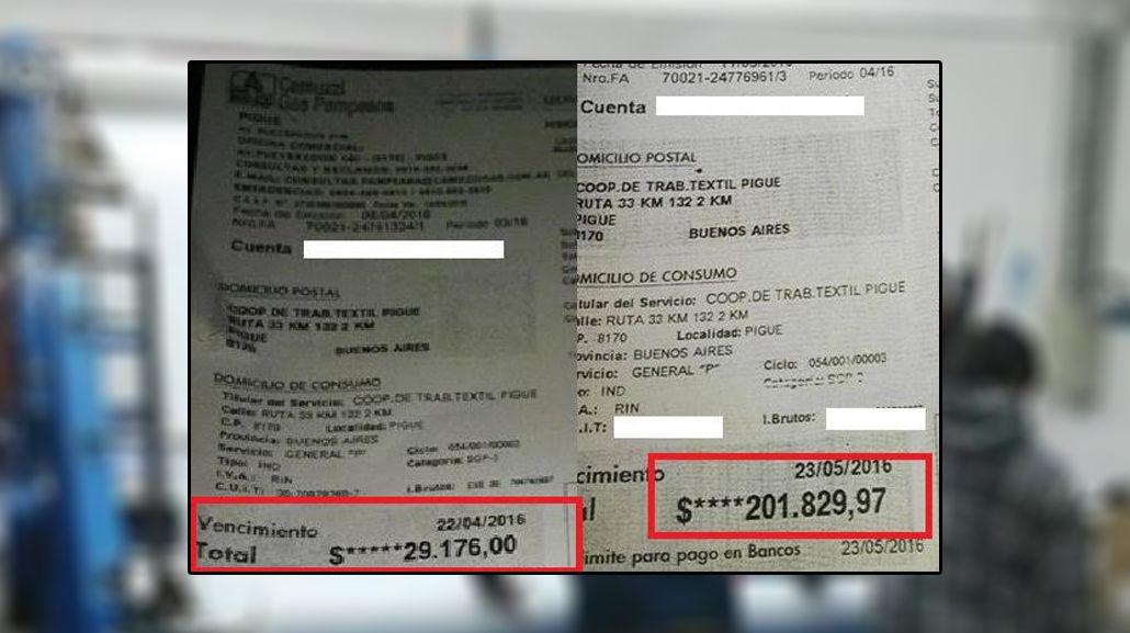 Tarifazo: A una cooperativa textil que pagaba 29 mil pesos por el gas le llegó boleta de 201 mil