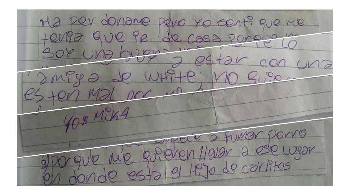 La cruda carta que dejó Micaela antes de irse de su casa: Hay muchos motivos