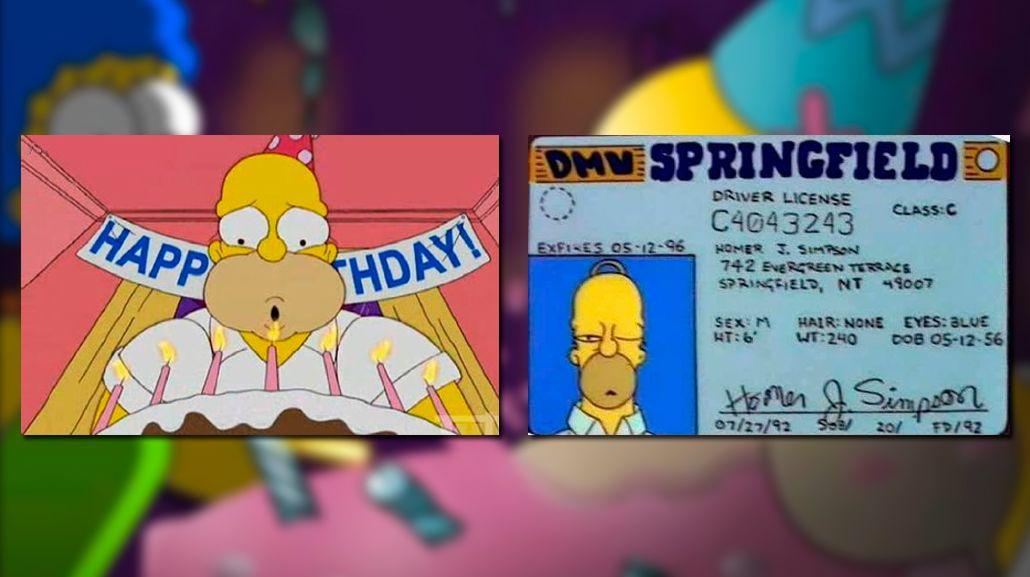 Homero Simpson cumple 60 años: la prueba que lo delató
