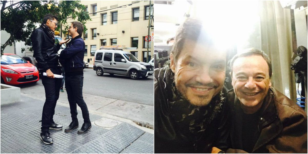 Tinelli, a pura selfie con famosos y políticos que participan de la gran apertura