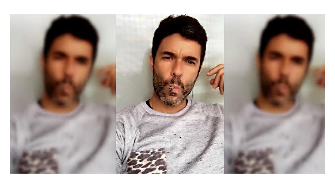 ¿Tabaco o marihuana? La polémica foto de Mariano Martínez