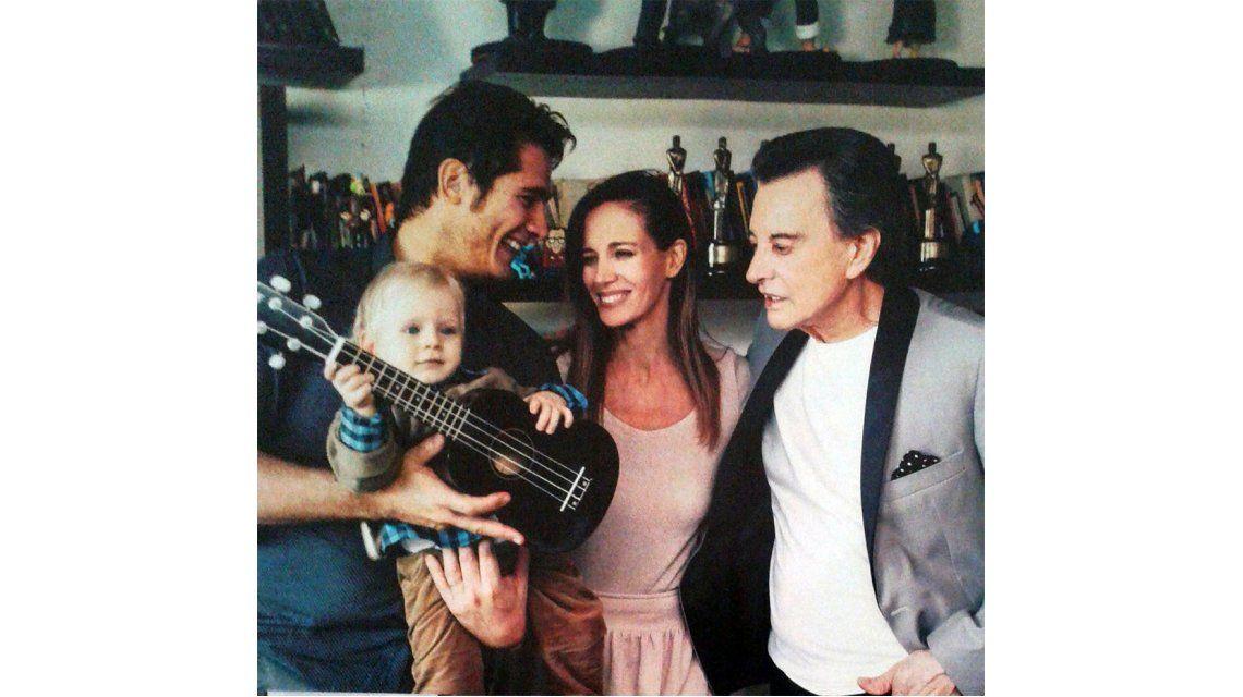 Guillermo Andino festejó el primer año de su hijo con un show de Palito Ortega