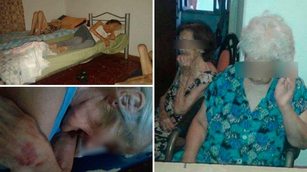 Indignación en Facebook por las fotos de abuelos maltratados y abandonados