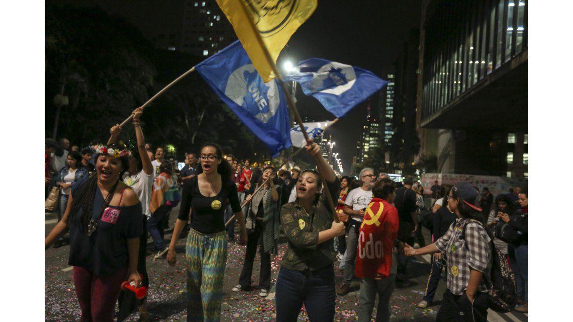 Protestas en Brasil por la situación de Dilma Rousseff