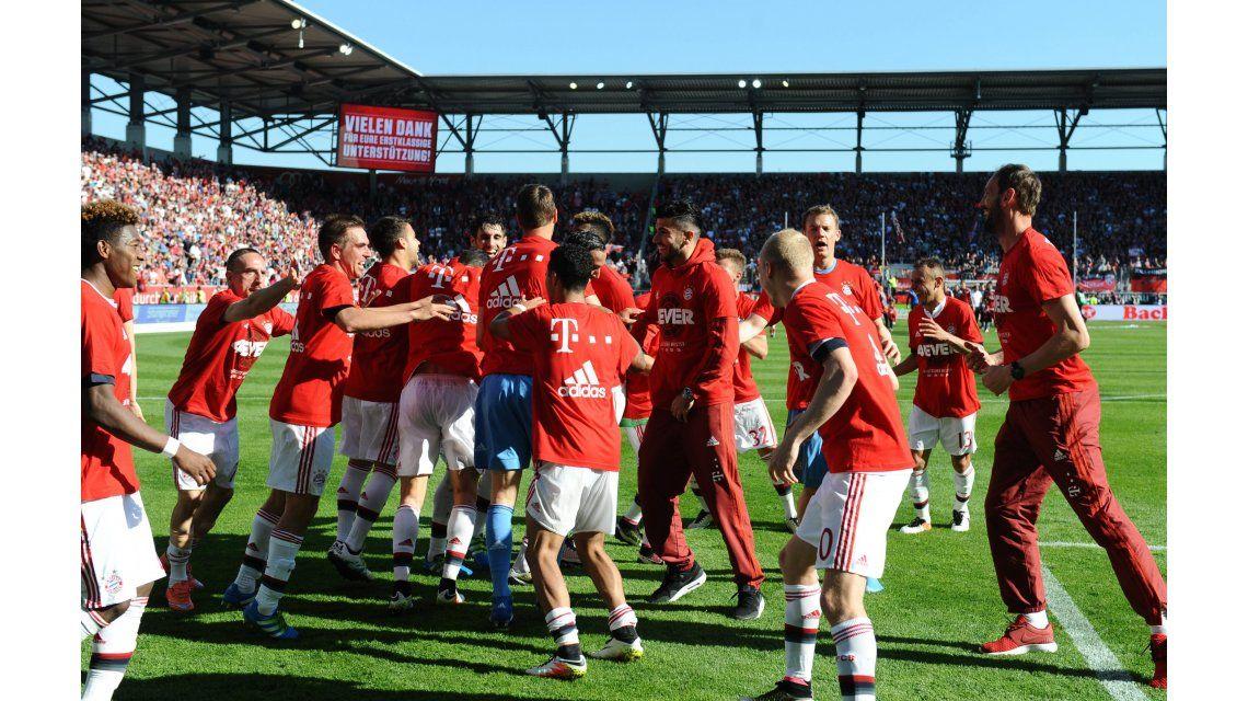 Ya es costumbre: Bayern Munich ganó la Bundesliga por cuarta vez consecutiva