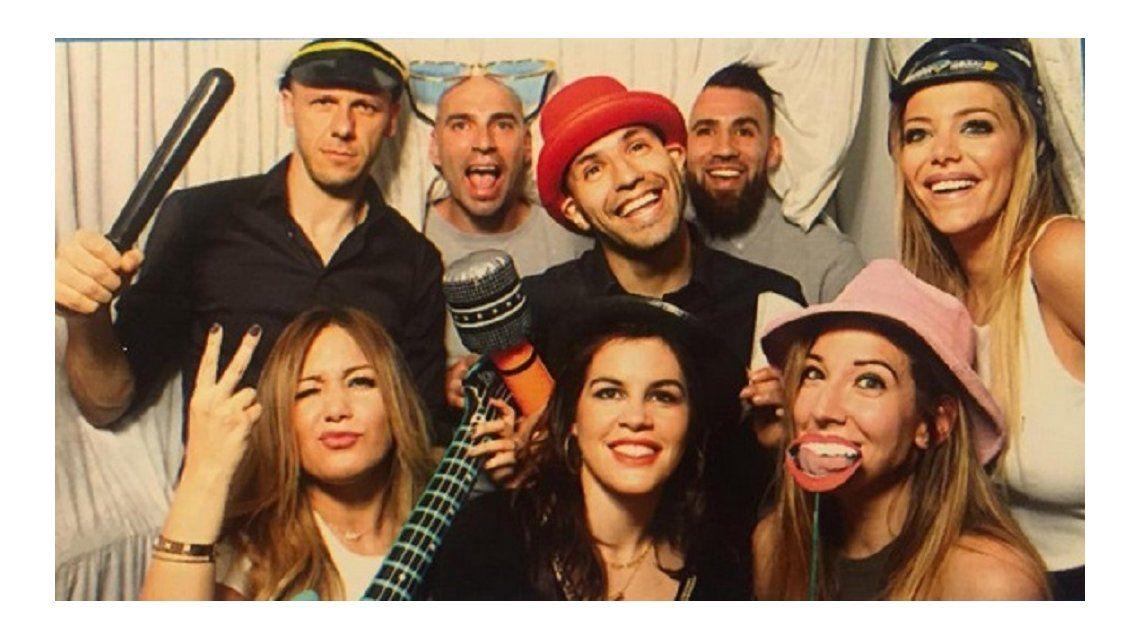 Todos disfrazados: Anderson, Demichelis, La Princesita y el Kun, de fiesta