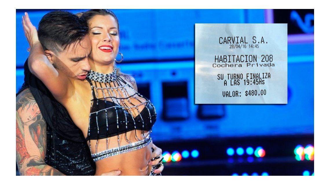 Éste es el ticket del hotel alojamiento que habrían compartido Fede Bal con Laurita