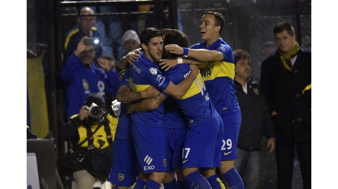 Boca marcó como visitante y empató ante Nacional por la Libertadores