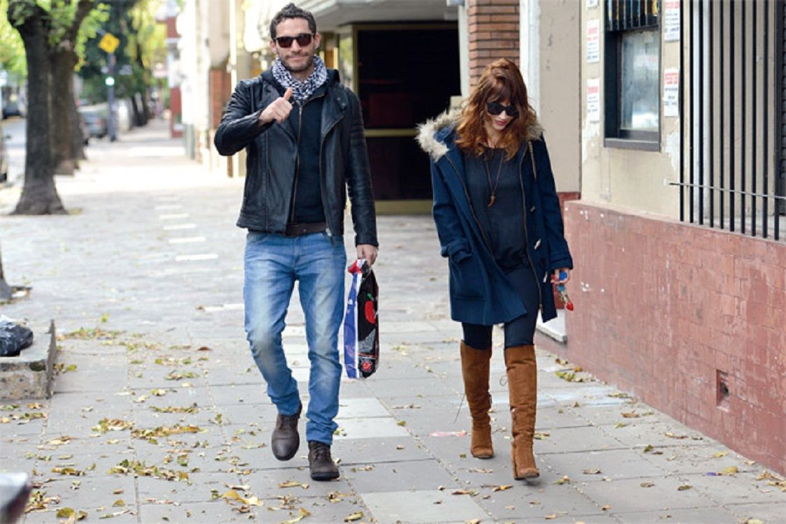 El fin de semana familiar de Michel Noher y Celeste Cid en Bariloche