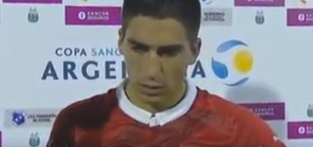 La insólita aclaración de un delantero de Independiente al saludar a su esposa
