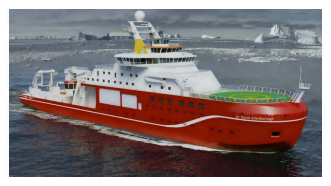 El increíble nombre que casi recibe un barco científico de 200 millones de libras